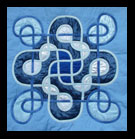 Blue Knot Art Quilt