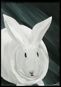 Flopsy the Bunny Painting